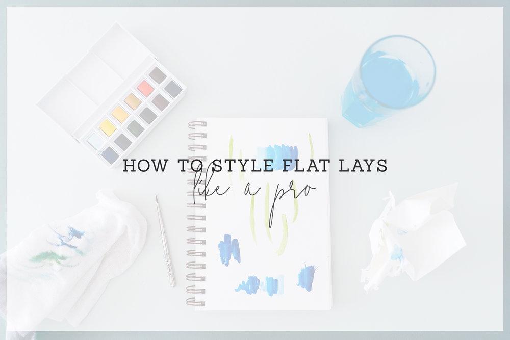 flat lay styling like a pro