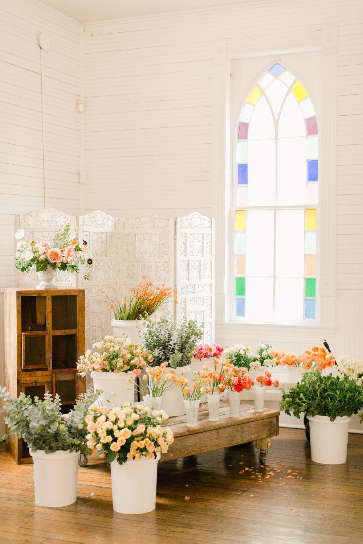 Bloom Bash Austin floral arranging workshop
