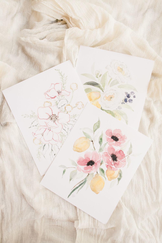 blushed designs watercolor print