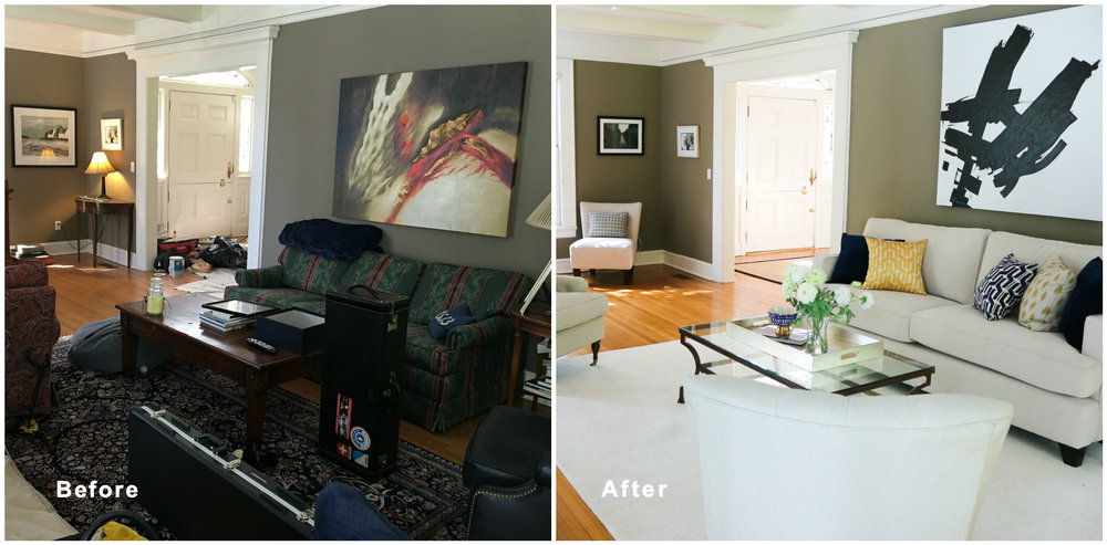 Living And More before after rivertowns staging design
