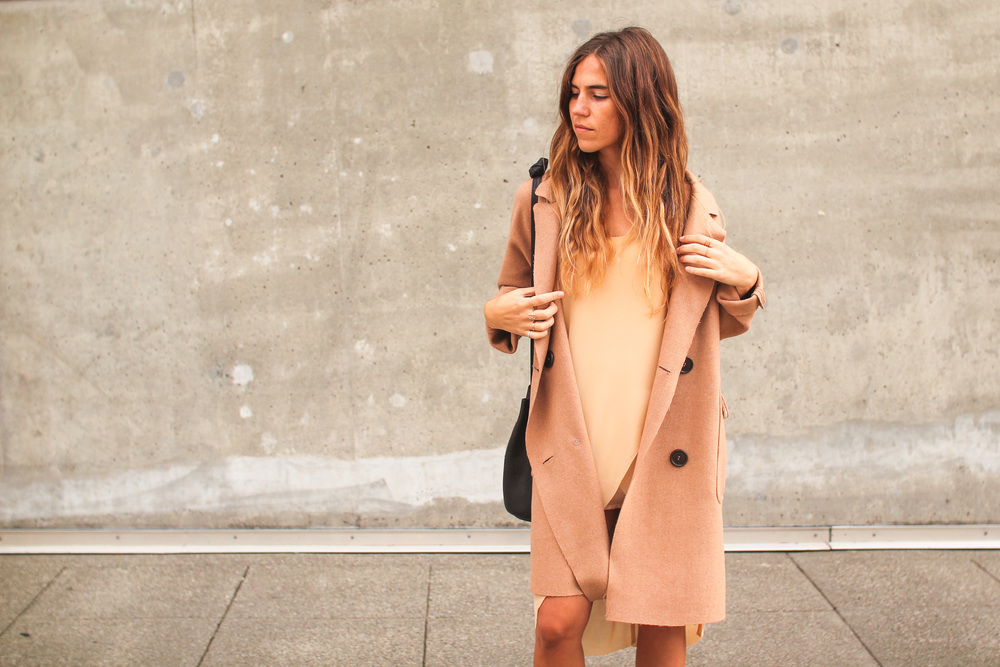 Here wearing the BLQ Wool Trench and BLQ Tunic Dress. We also love to pair the Lacausa slip dresses with this trench here.
