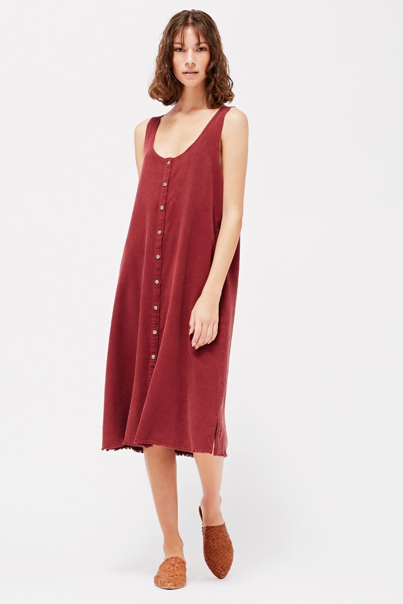 pipe and row lacausa reversible raw silk dress made in the usa slow fashion