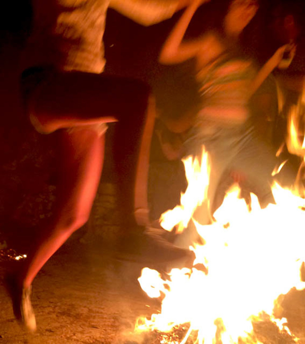 Dancing Fires at a Panigiri