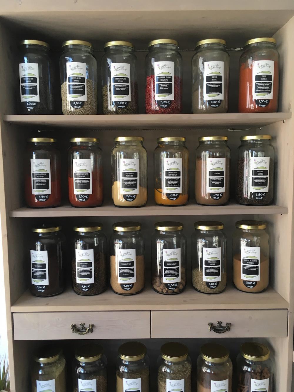 Ikarian spices at Throubi Ikaria