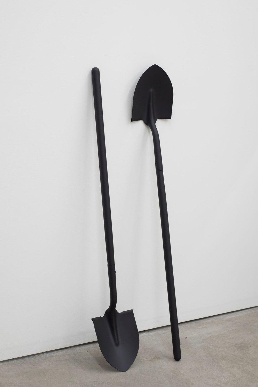 Pick Up Heaven (for M), shovels, paint, 2017