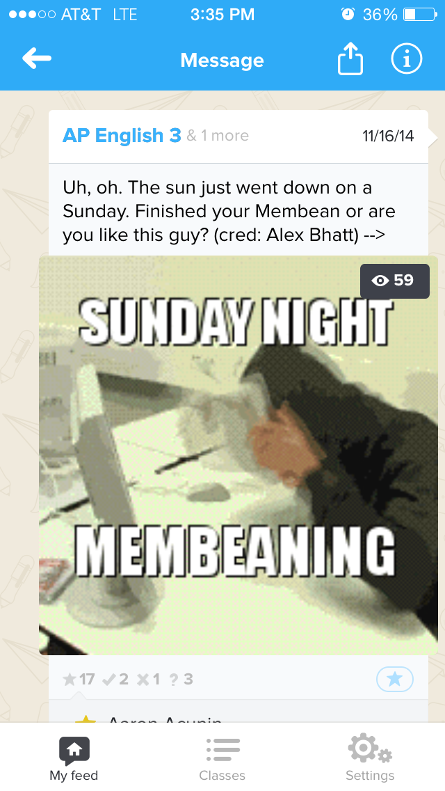 Students compete for meme rights to a Remind text alert — John ...