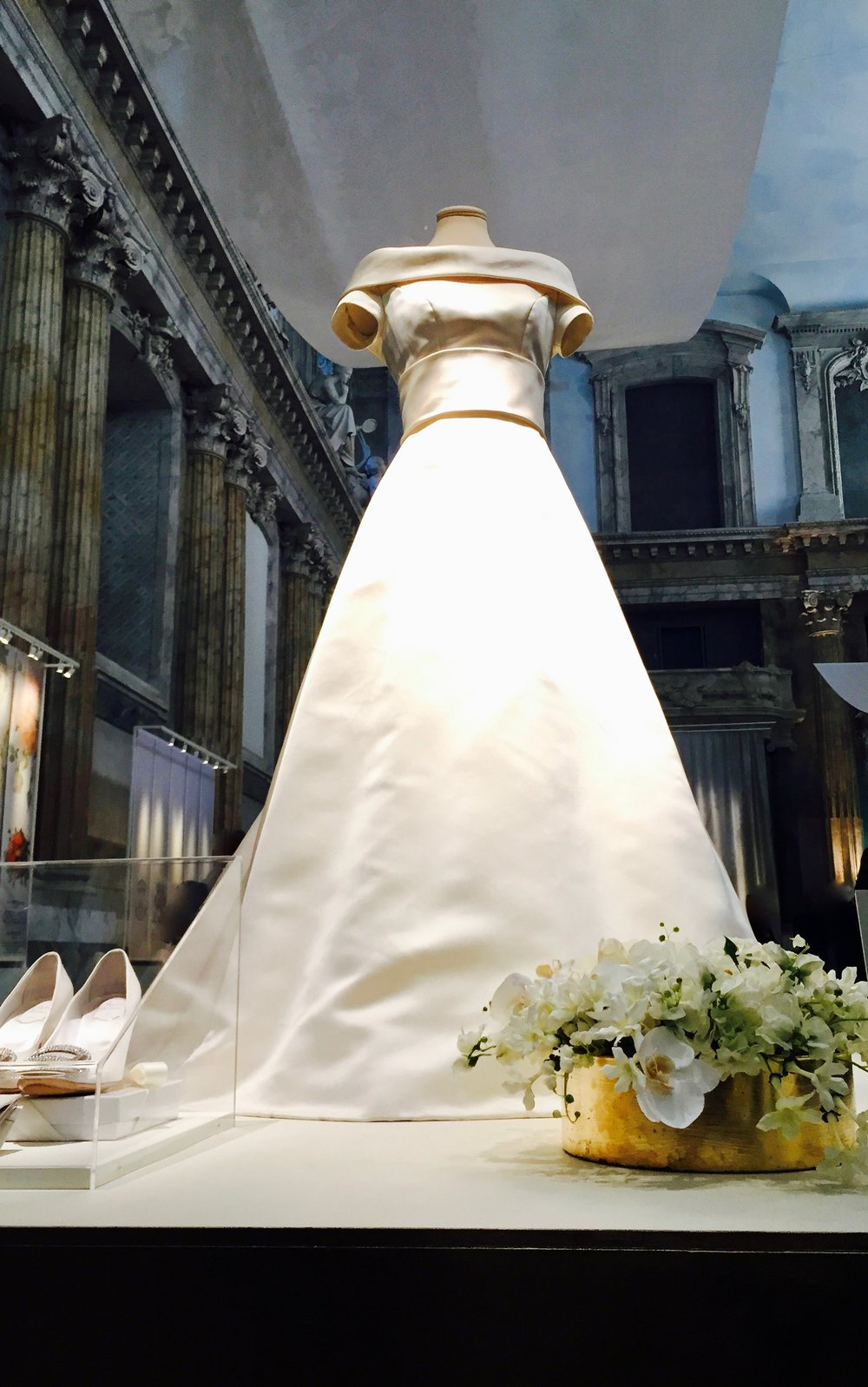 Crown Princess Victoria's wedding dress. Designer: Pär Engsheden