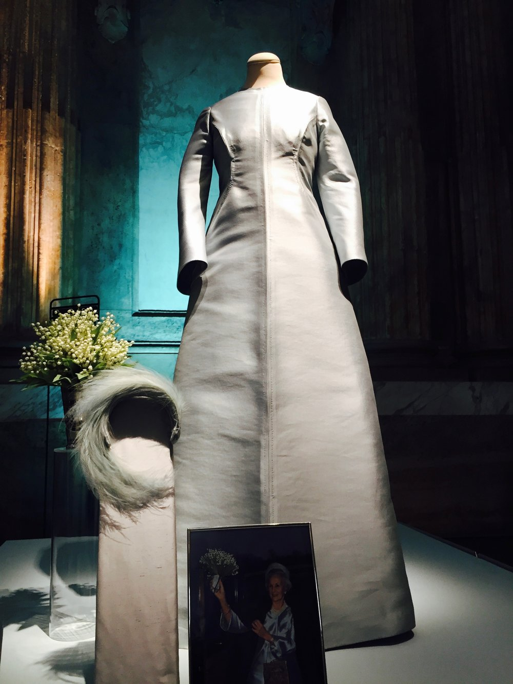 Princess Lilian and Prince Bertil have the best love story. Here's her blue sweet wedding dress.