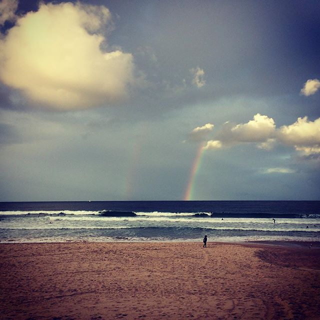 There's a private place reserved for the lovers of God, where they sit near him and receive the revelation-secrets of his promises. (Ps 25:14 The Passion Translation) #promise #ocean #manly #rainbow #secretplace #loversofgod #resting #oceanruns