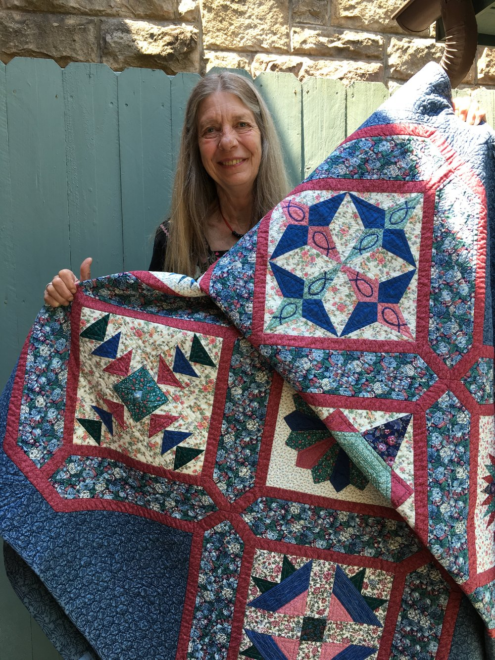 Terry Jo Miller of Beverly, WV, is the 2018 Winner of the hand made quilt by Fran Kordek