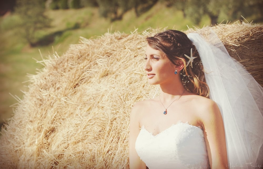 bridal photoshoot Tuscany