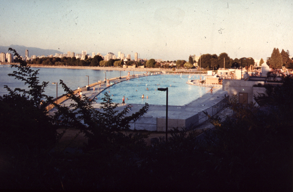 Looking North over Kits Pool during its first season after the renovations.   Photo courtesy of Bingham + Hill Architects.