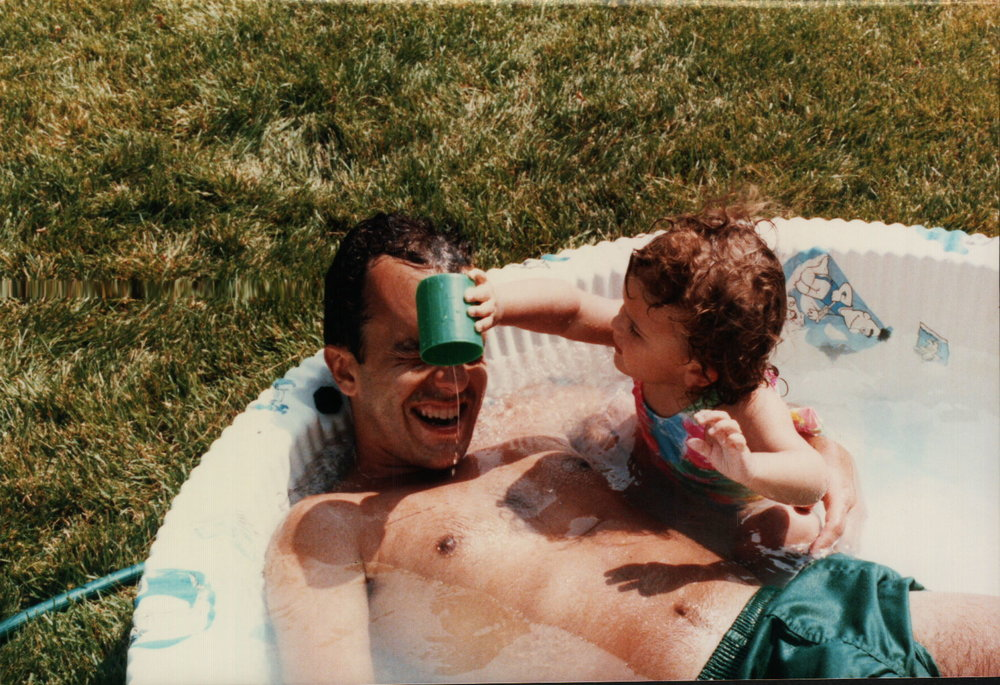 My father and me: raucous and undignified in our youth.