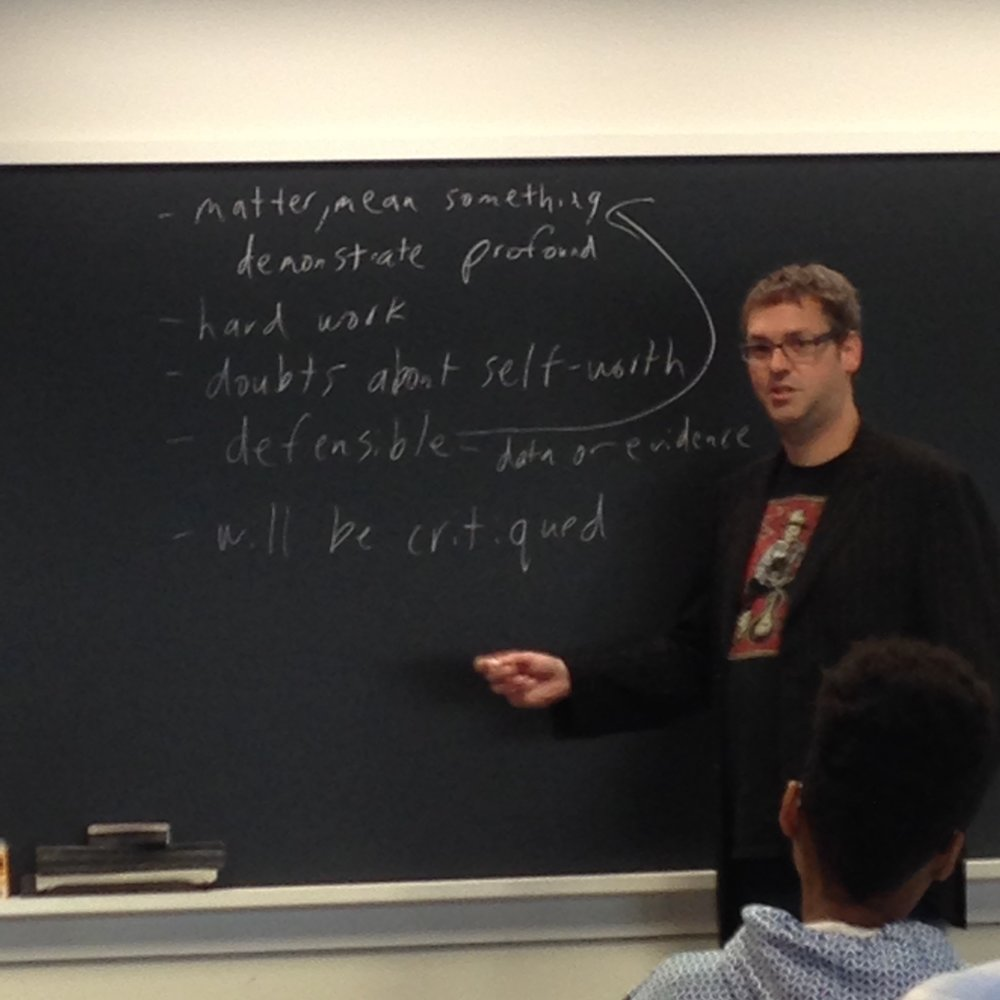Nate teaching MMUF and HHG students about how academia is hard.