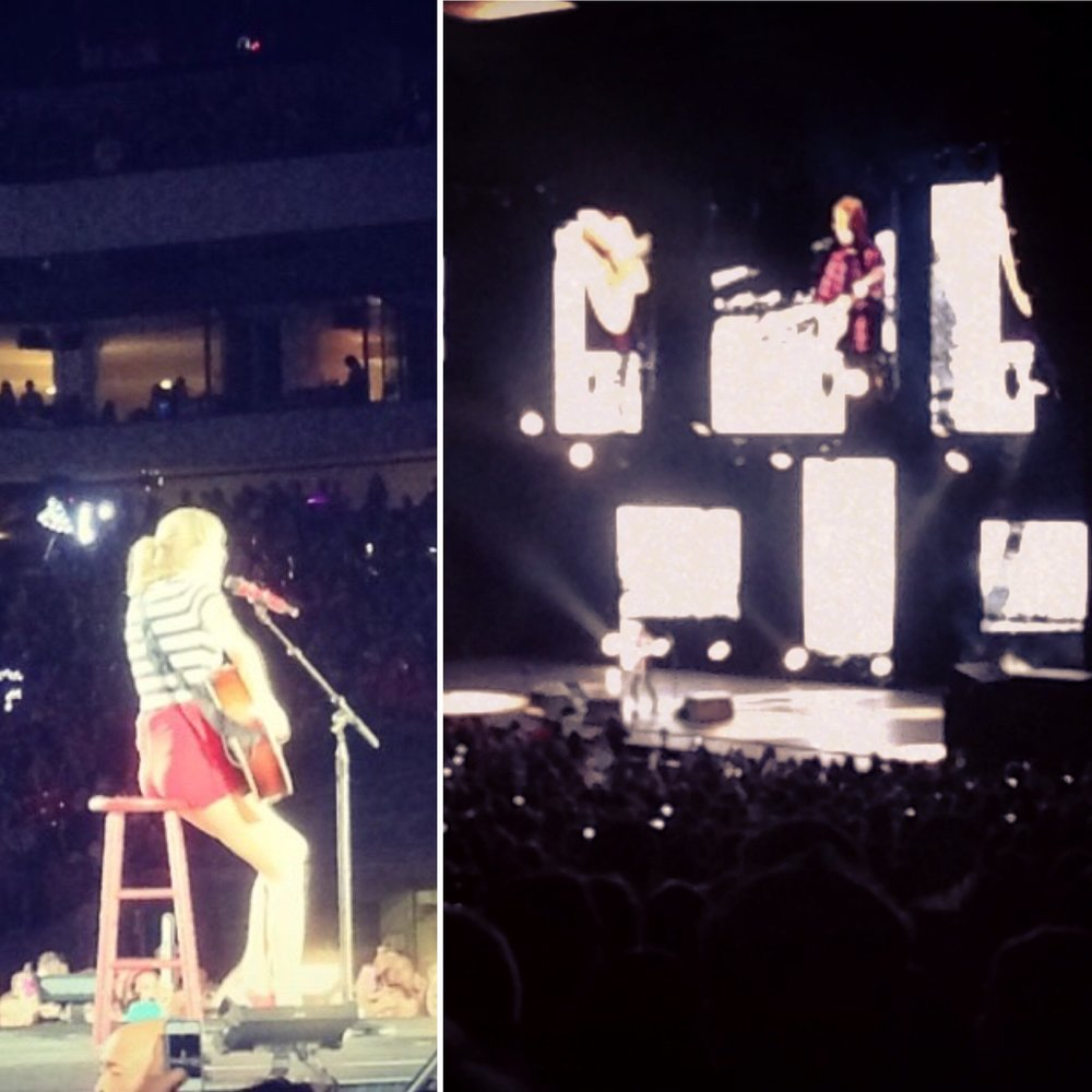 Taylor's RED tour in DC with Natalie and Ed's X tour in Boston with Whitney.