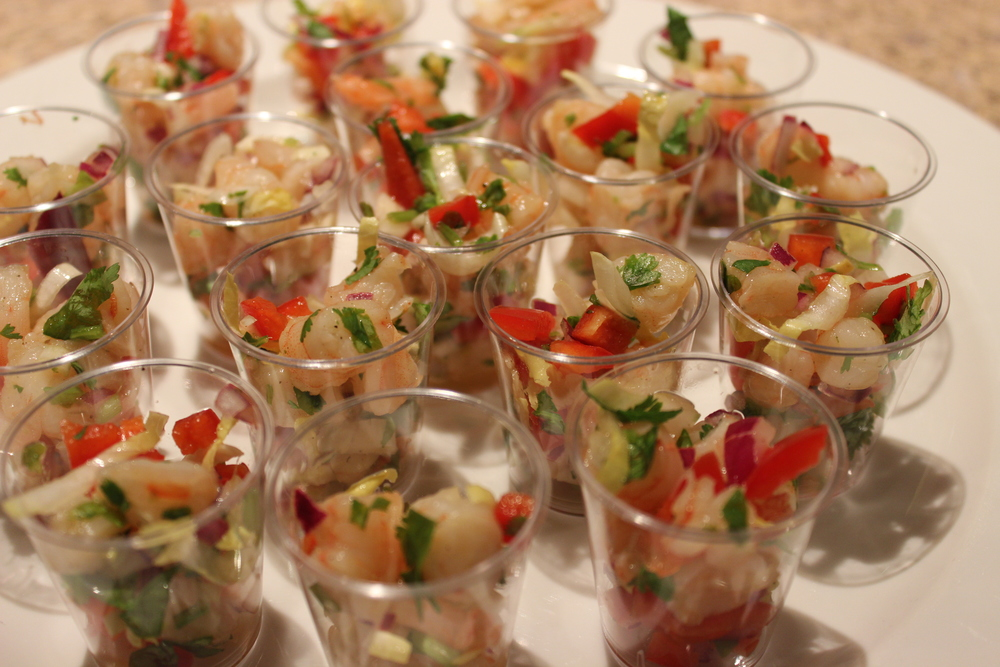Shrimp Ceviche with Cilantro and Lime.