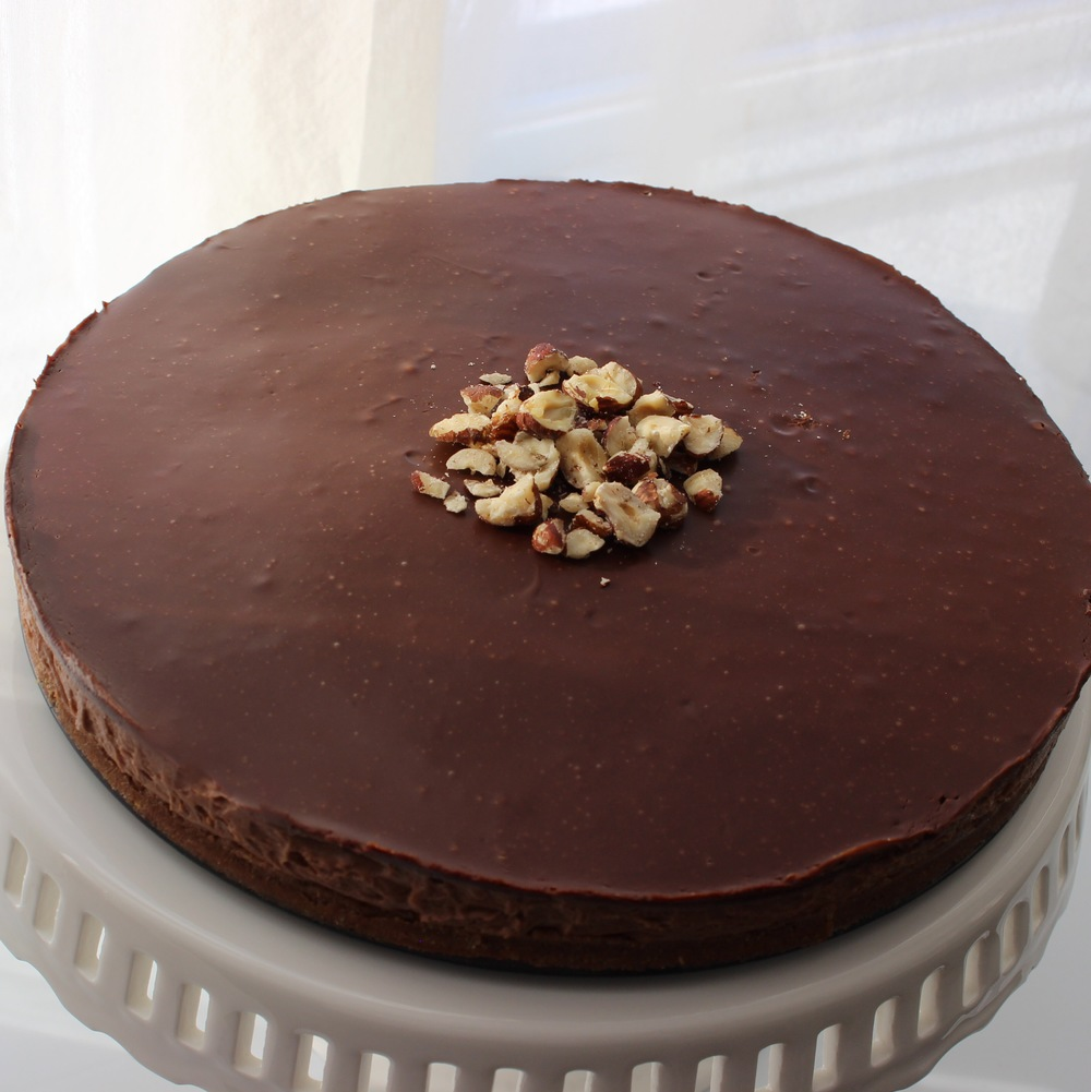 No-Bake Nutella Cheesecake.