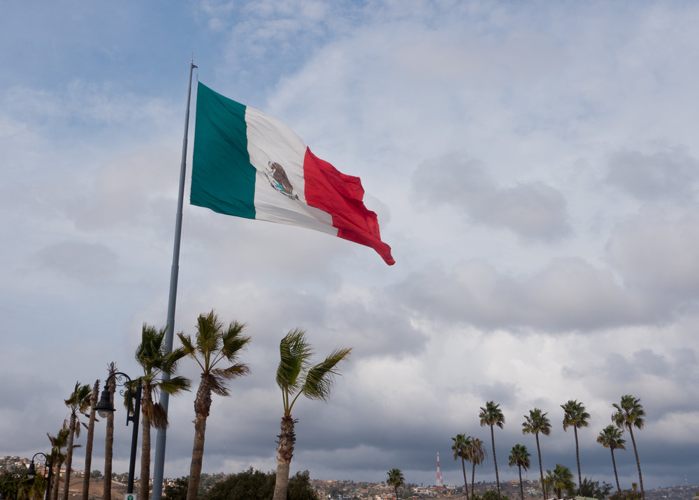 The amazing flag that flies over Ensenada