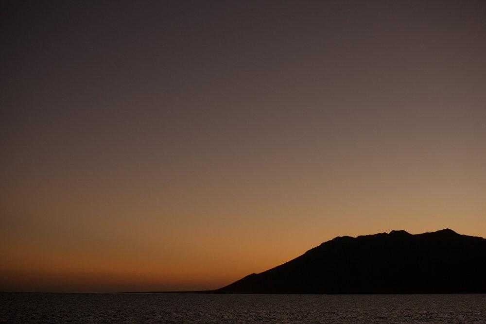 Sunset over Bahia Santa Maria