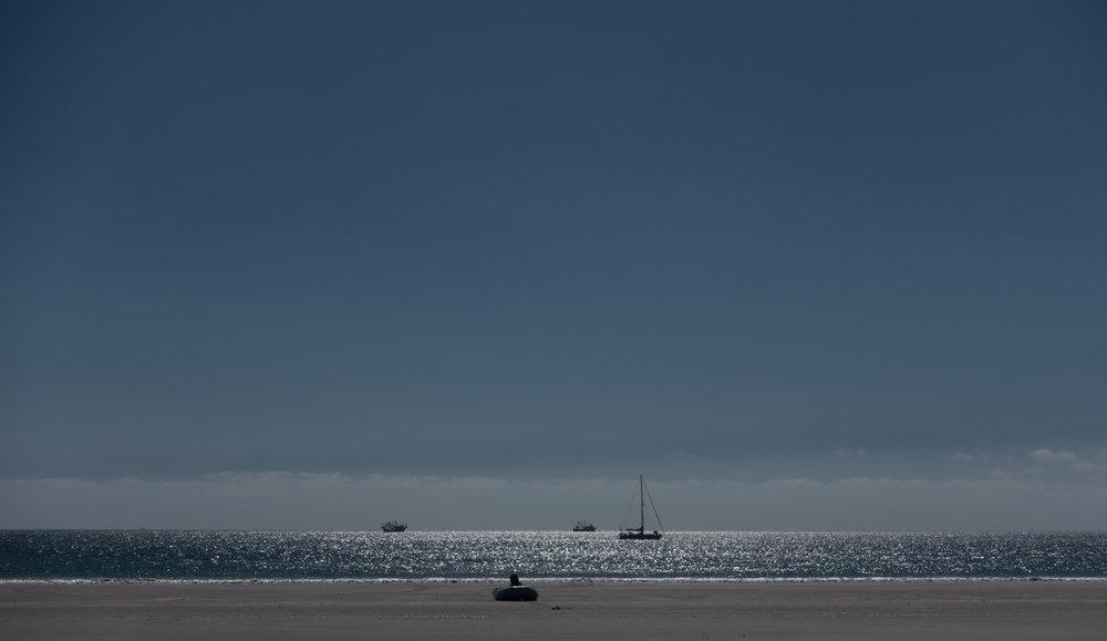 Tumbleweed at anchor, Bahia Santa Maria, Baja