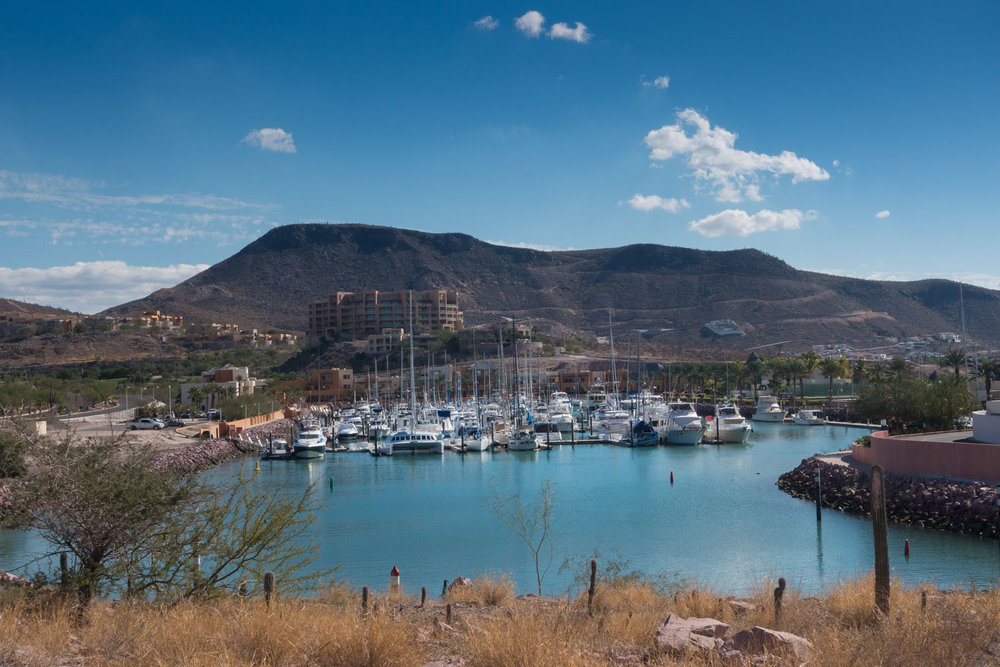 The inner basin at Costa Baja Marina, La Paz