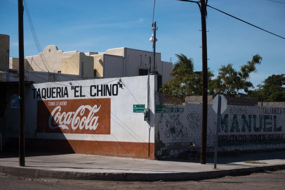 Side street La Paz, Mexico