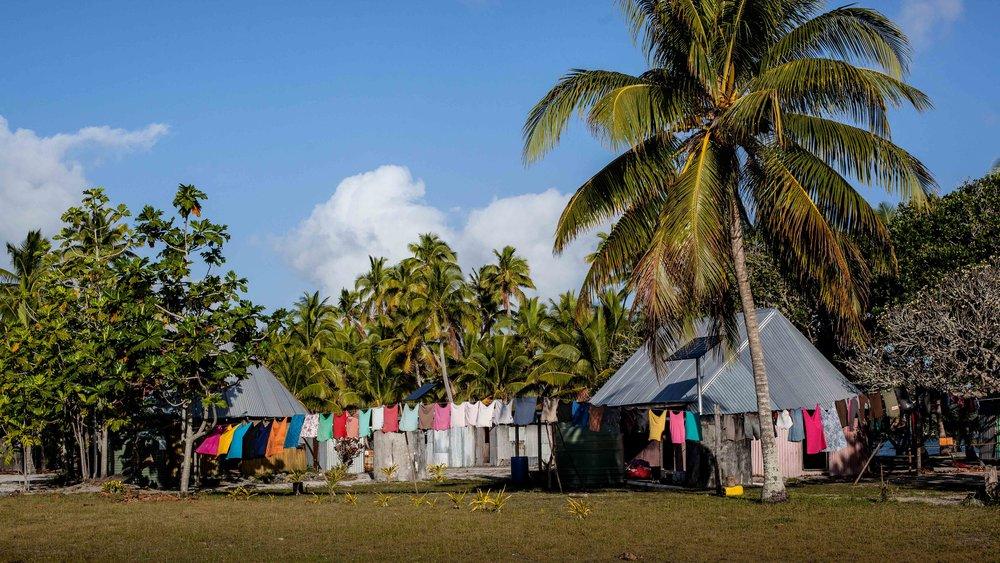 Village life, Fulaga, Fiji.
