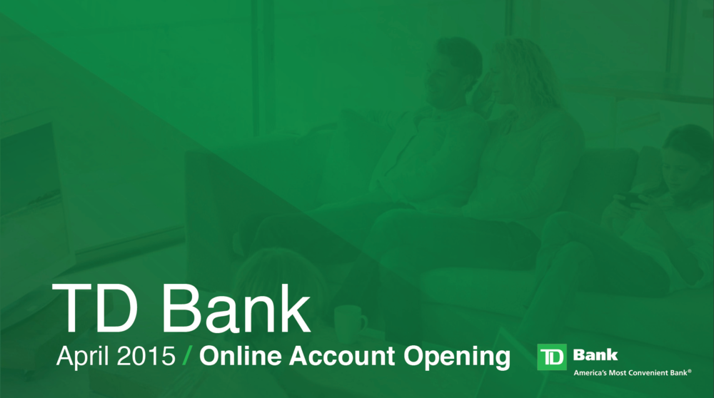 Can i open a td bank account online
