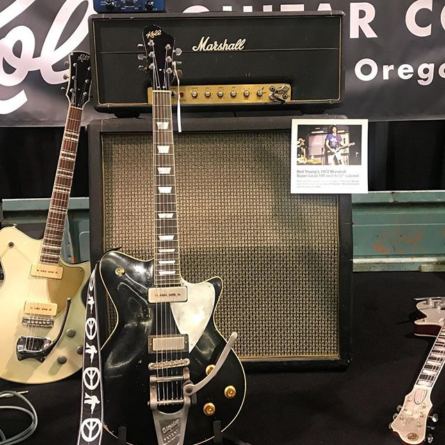 My favorite thing at NAMM.  Neil Young's 1972 Super Lead.