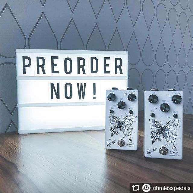 @ohmlesspedals is releasing a new compressor. So ya know, now you can squash stuff with a German level of precision. #beardtone #ohmless #yaracompressor