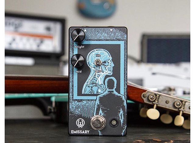 It has been a busy day for my fellow Oklahomans today.  The @walrusaudioeffects presale started today for the Emissary Parrell Boost. Two independent boost circuits ran in parallel to push your solos right out through the mix. #beardtone #walrusaudio