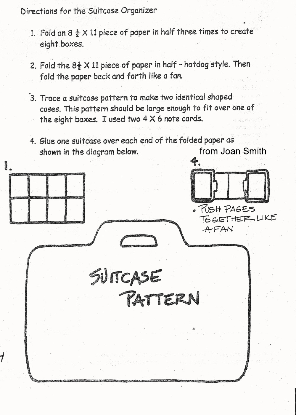 Points Suitcase Pattern and Directions