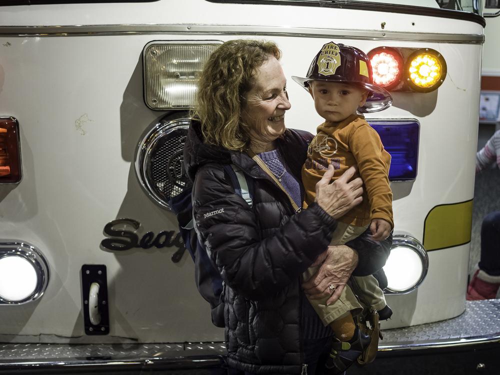 Grandma McQuade and a Fireman - Denver Children's Museum