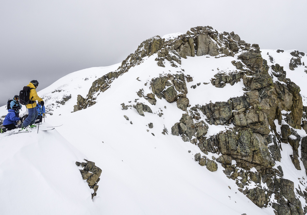 "Entrance to ""The Way Back Couloir"""