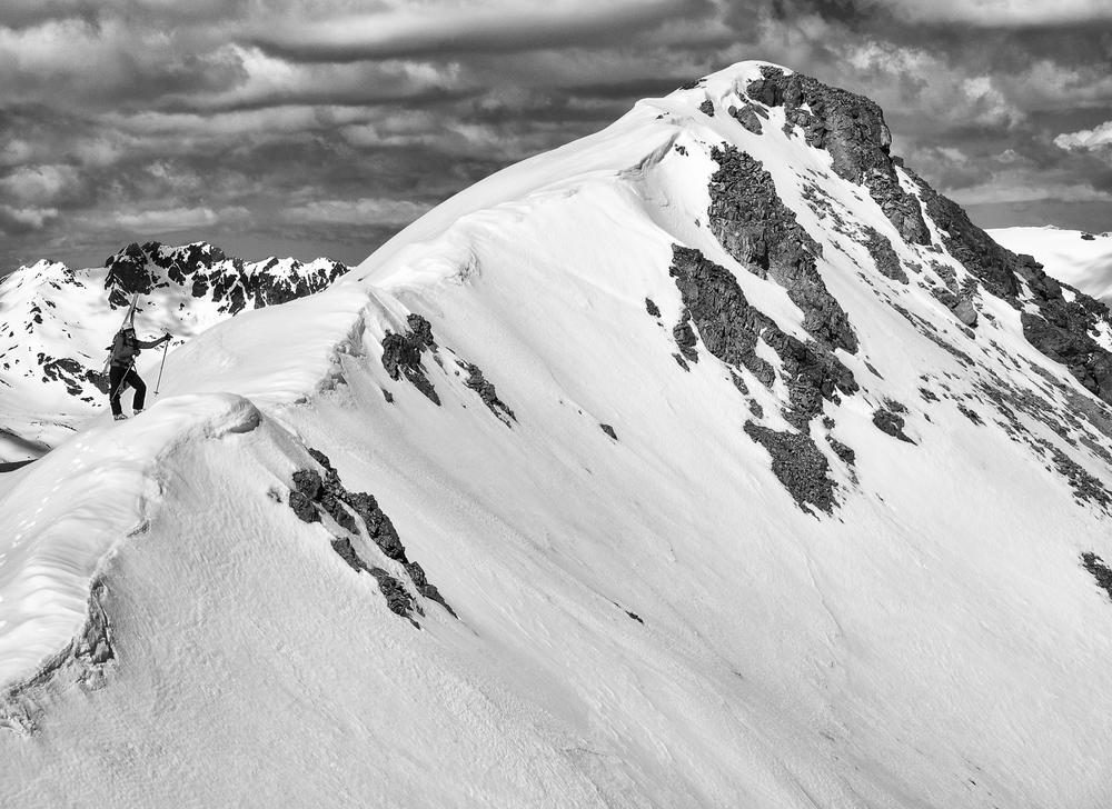 Ridge line between Woods' twin summits - Lynn