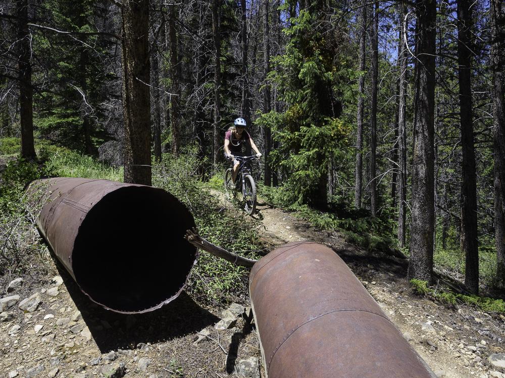 Historic mining waterworks - Galena Ditch Trail