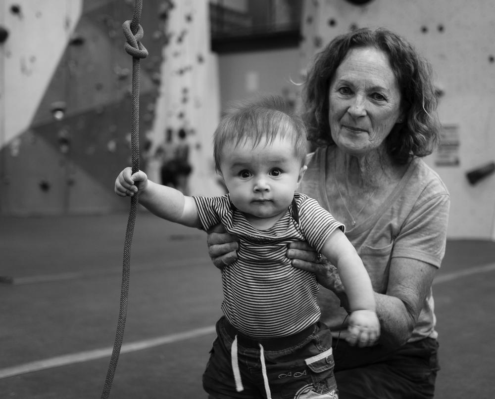 Climber in Training - Declan & Grandma McQuade