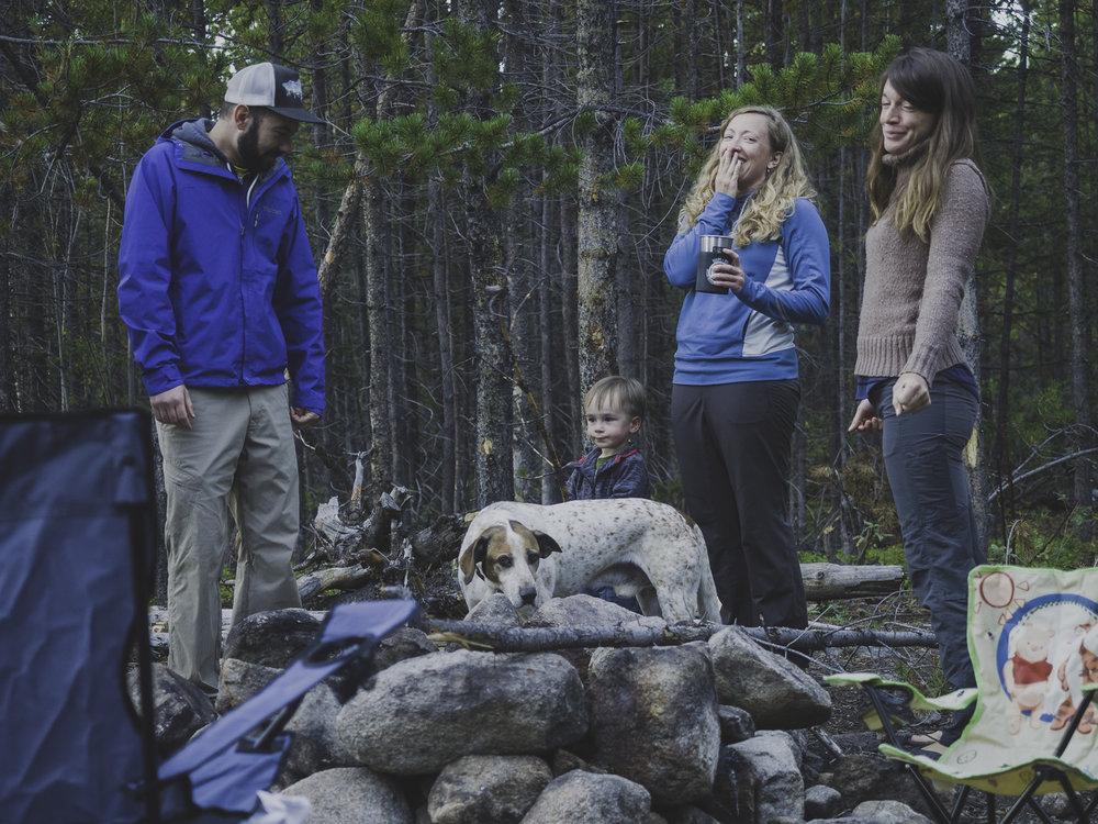 Camp Laughter - Drew, Liam, SB, Colleen & Farva