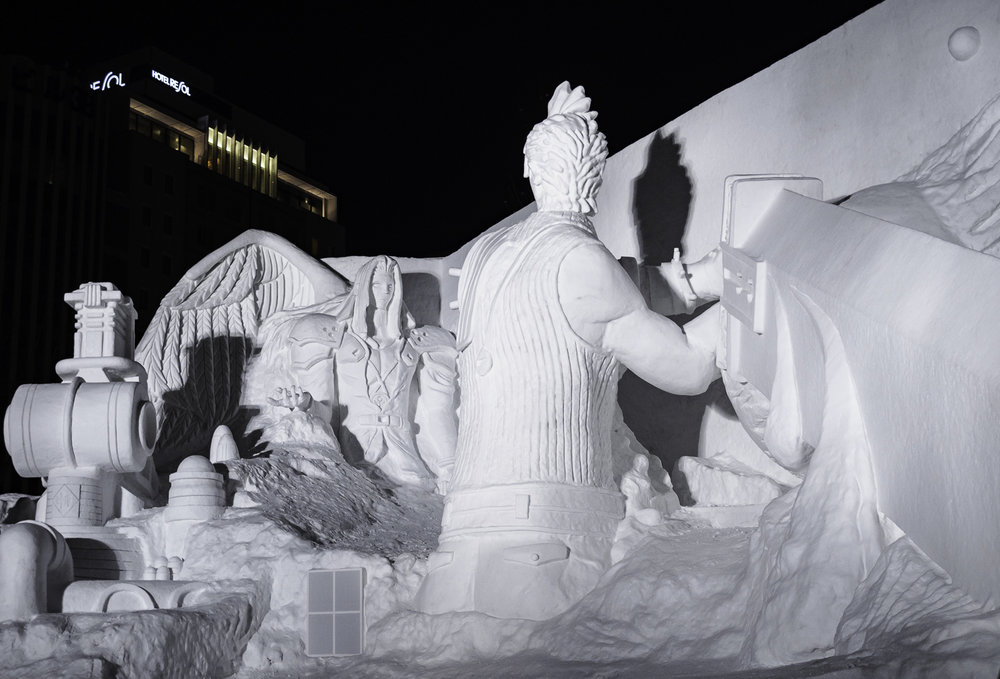 Final Fantasy Snow Sculpture - Sapporo Ice Festival 2017