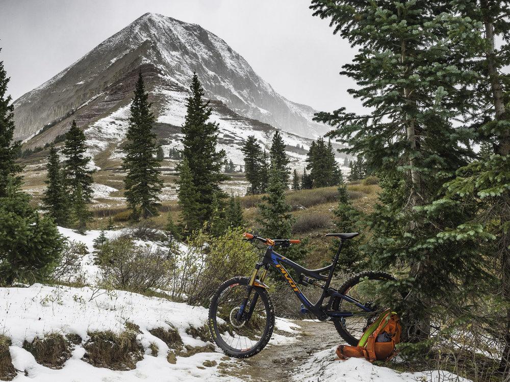 Snowing at treeline - Engineer Mtn.