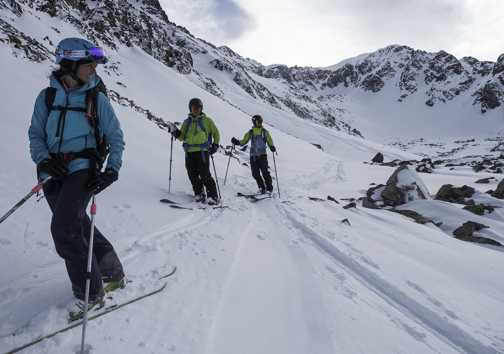 Couloir Exit - Jamie, Andrew, Dave