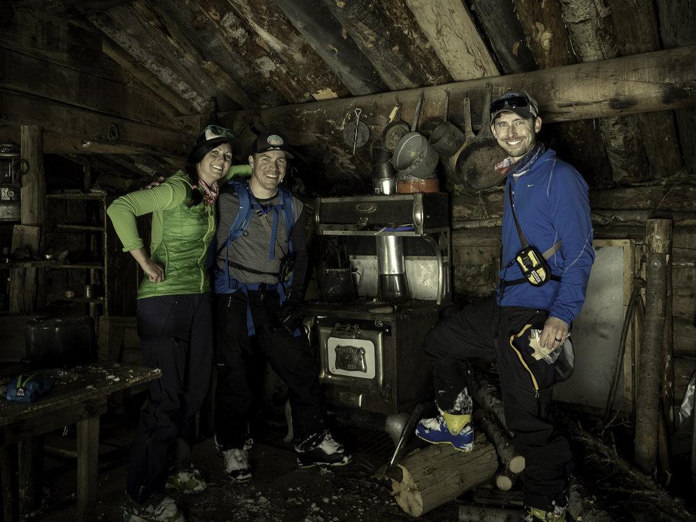 Lunch Break - Orophan Boy Cabin - Jamie, Andrew, Dave