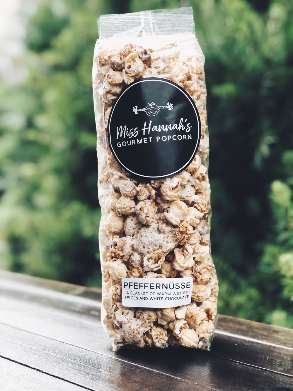 Pfeffernusse - Named after the traditional holiday cookie, this treat is coated in winter spices and white chocolate drizzle.Available during the Holiday SeasonGluten FreeContains Dairy