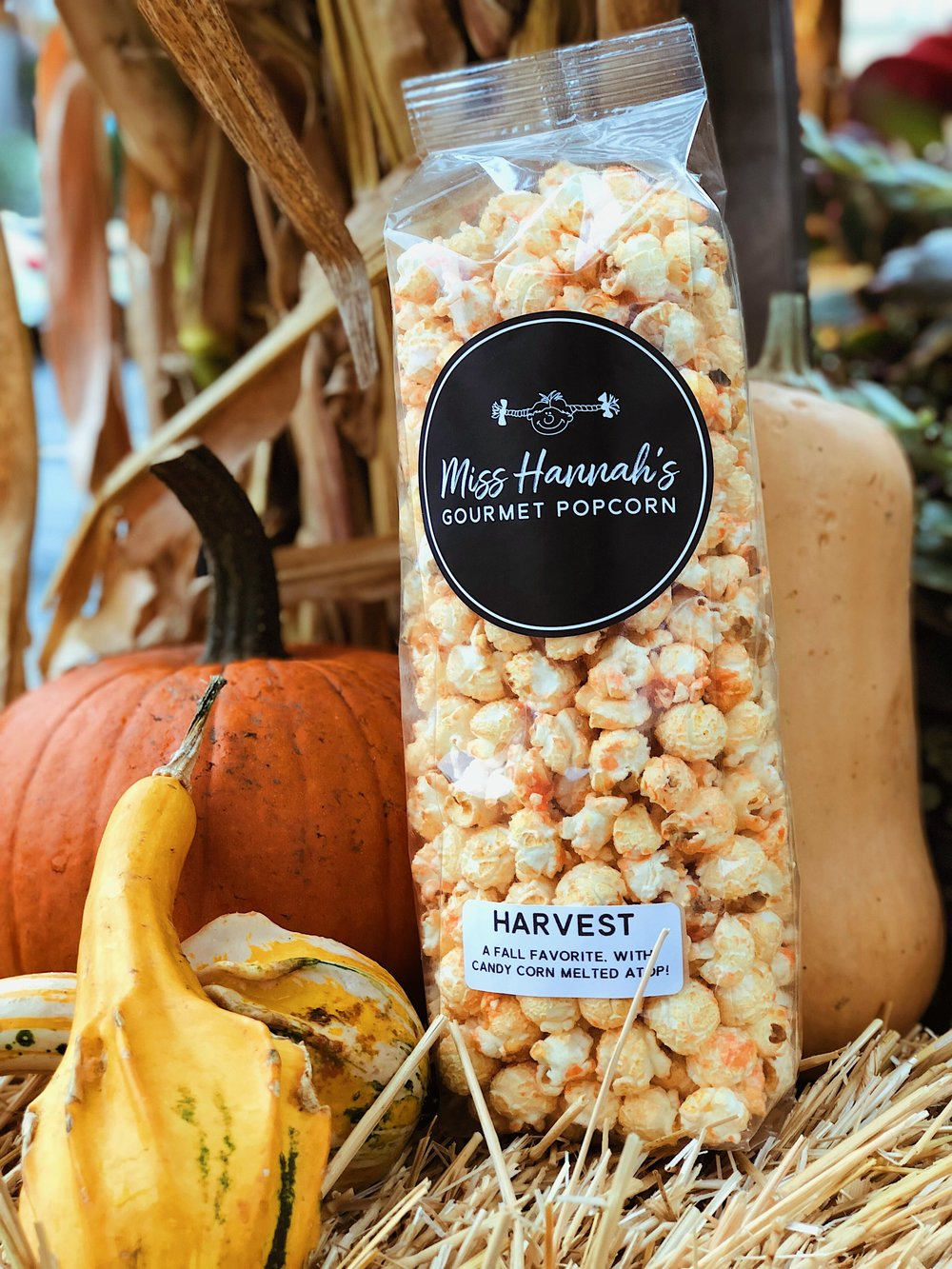 Harvest - A sweet fall treat with real candy corns melted atop, making for a honey flavored delight.Available in OctoberDairy & Gluten FreeContains Gelatin