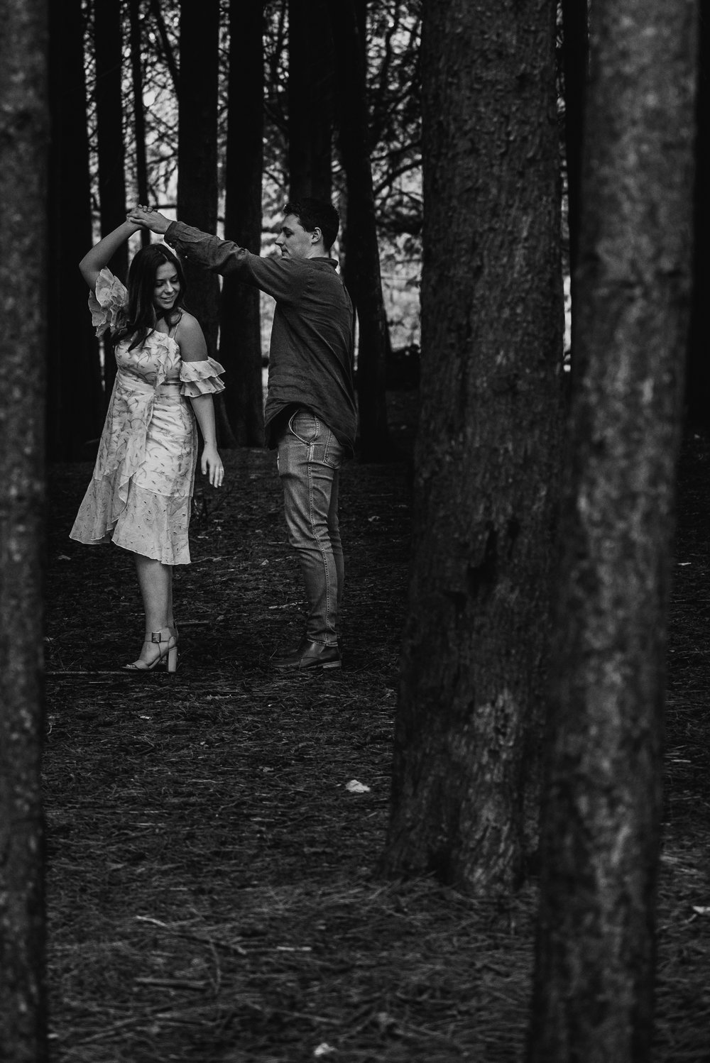With this image of a couples session I did, I balanced them with the trees.