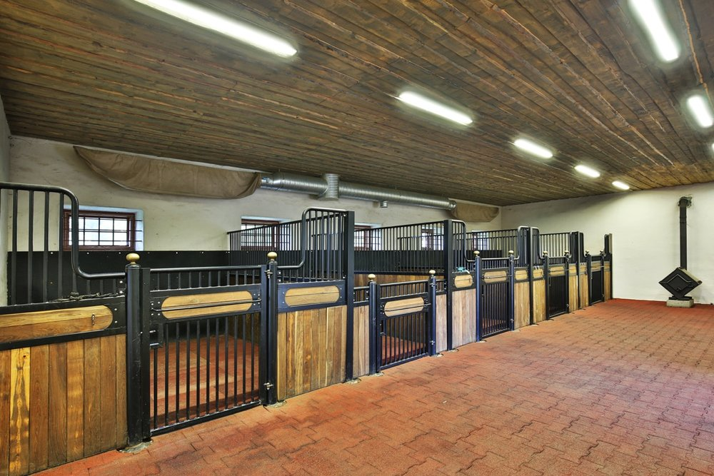 Luxury stable for manor horses