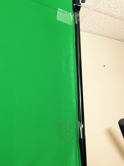 Shipping tape is great for tightening green screen fabric to remove wrinkles and shadows