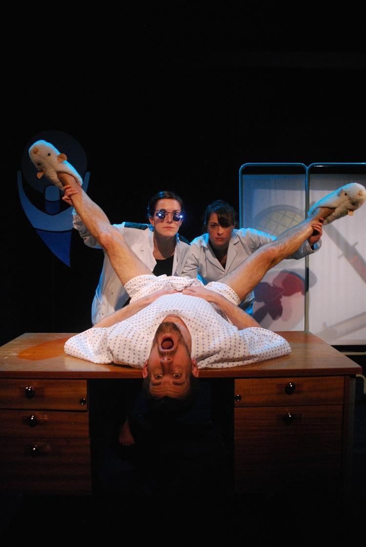 Elsa Petit, Lowry James and Michael Wagg in Lat Rat;Genius Sweatshop