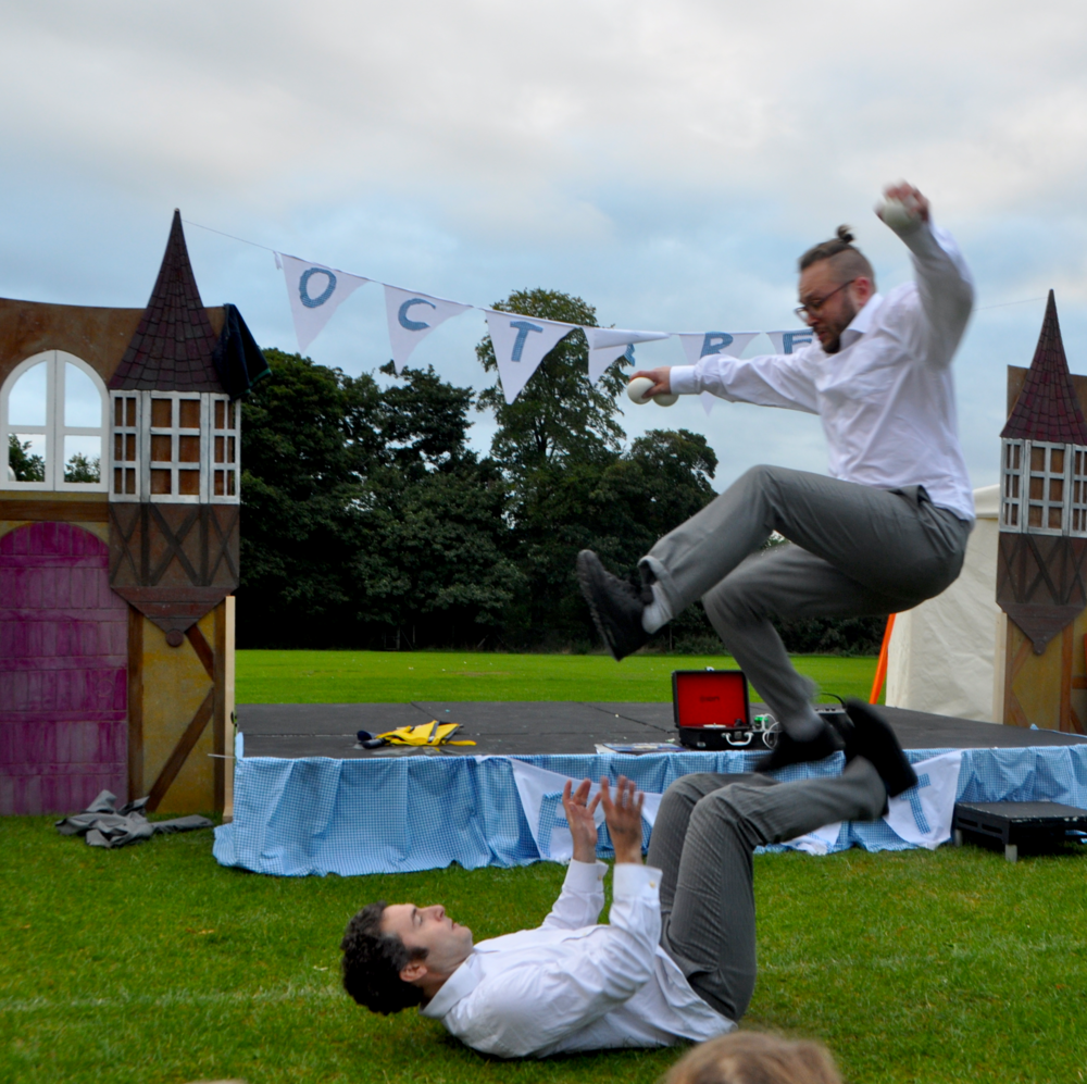 The Flying Bazazi Brothers at October Fest, Baisingstoke.  Photo by Dan Coates at D&M Photography.