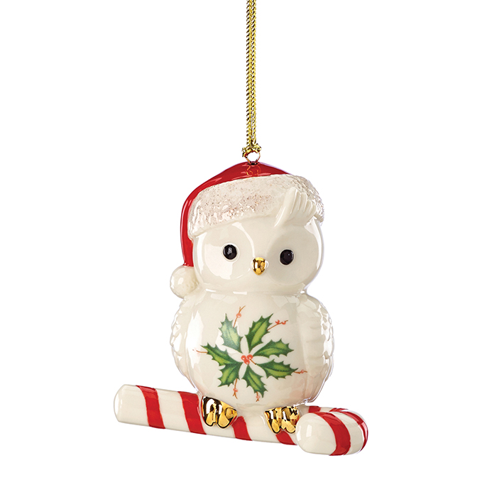 Lenox Happy Hoolidays Owl Ornament  瓷質聖誕貓頭鷹掛件  $33.99  bedbathandbeyond.ca  604 904 1118